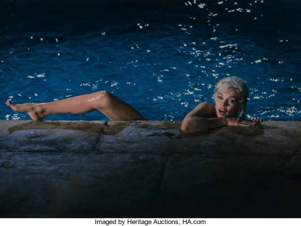 Revelan Fotos Inéditas De Marilyn Monroe Desnuda En Una Piscina