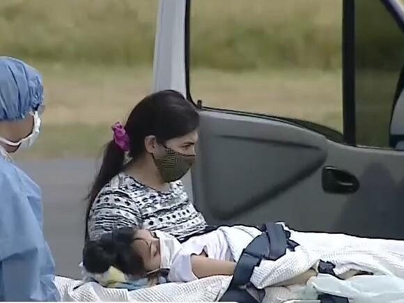 Abigail llegó a Buenos Aires y fue trasladada al Hospital ...